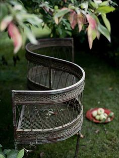 a courting bench for the garden