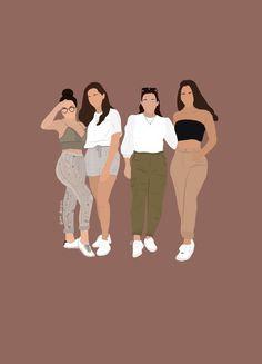 People Illustration, Illustration Girl, Portrait Illustration, Cartoon Girl Images, Girl Cartoon, Cartoon Art, Digital Art Girl, Digital Portrait, Instagram Highlight Icons