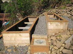 raised beds on a hill