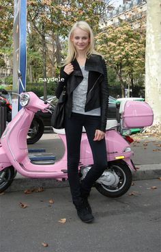 Pink scooter!