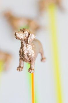 DIY Gold Animal Drink Stirrers | theglitterguide.com