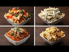 Penne 4 Ways Servings: INGREDIENTS 2 tablespoons olive oil 3 cloves garlic, chopped 2 chicken breasts, thinly sliced 2 cups asparagus, chopped 1 cup cherry tomatoes, & The post Penne 4 Ways appeared first on Pinfo Board. Penne Pasta Recipes, Pasta Dishes, Fettuccine Recipes, Pasta Bake, Beef Recipes, Cooking Recipes, Healthy Recipes, Italian Recipes, Pasta Cremosa