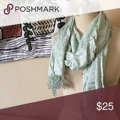 Scarf Pale green scarf Accessories Scarves & Wraps