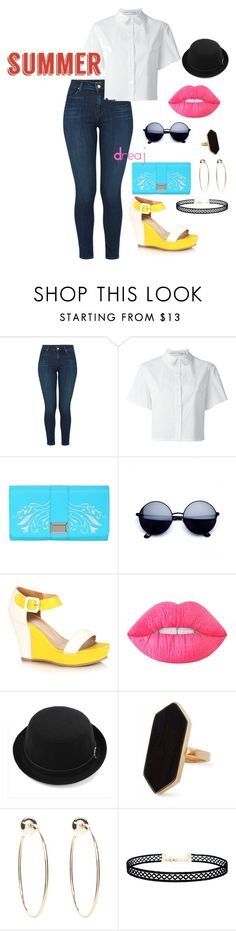 """""""Summer Time!!"""" by dreajj ❤ liked on Polyvore featuring J Brand, Proenza Schouler, Snob Essentials, Lime Crime, Jaeger, Bebe, LULUS and summerlipstick"""