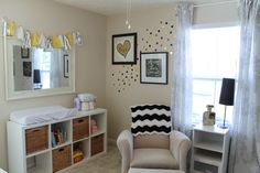 We love this gold and black nursery!