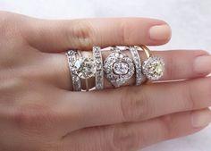 Vintage engagement rings and vintage wedding bands