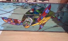 """""""Turtle Ornamental Stained Glass"""" by Stuart Stained Glass Florida # Art"""