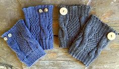Ravelry: Simple Cable Knit Boot Cuffs pattern by Julie Tarsha