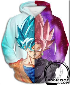 Black Rose Goku and Super Saiyan Blue Goku Dragon Ball Super Hoodie clothes