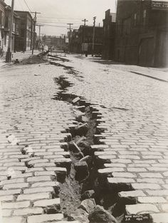 U.S.A. Folsom Street, San Francisco after the Great Earthquake of April 18th, 1906.