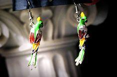 Хиппи шик бохо украшение серьги птица попугай одежда для фестиваля Ибица Бали…