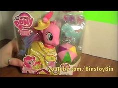 My Little Pony Fashion Style PINKIE PIE Crystal Empire Review! by Bin's Toy Bin - YouTube
