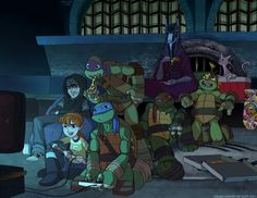 """Raph's just in the back like: """"Why am I here???          -_-""""  -TT"""