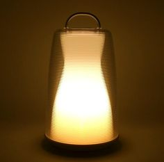 The rechargeable Portable LED Lantern comes in two colors, white or amber; three levels of brightness can be controlled by touch. Its $89.99 at Mr. Light.