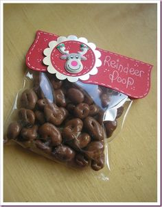 Reindeer poop...chocolate covered raisins... ha!