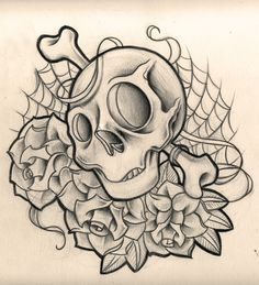 skull and roses by *WillemXSM on deviantART