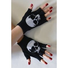 Fingerless gloves with skulls. Skull Fashion, Dark Fashion, Emo Fashion, Gothic Fashion, Mode Punk Rock, Emo Outfits, Cute Outfits, Moda Rock, Mode Sombre