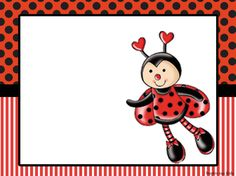 Joaninha – Kit festa grátis para imprimir – Inspire sua Festa ® Baby Ladybug, Ladybug Party, School Frame, Diy Calendar, Spring Crafts For Kids, Baby Images, Photo Booth Backdrop, Borders And Frames, Writing Paper