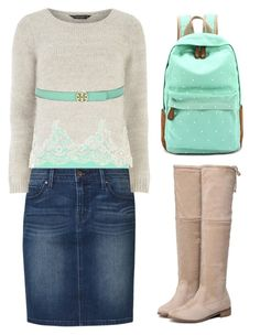 """Pentecostal outfits"" by lizzie2461 ❤ liked on Polyvore featuring BKE core, Levi's, Dorothy Perkins and Tory Burch"