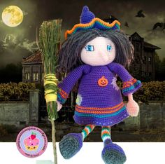 bruja ganchillo witch crochet doll
