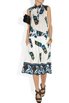 Suno Cellphone-print silk dress NET-A-PORTER.COM