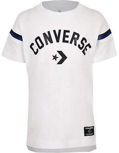 657a9ff7 Boys white Converse logo split hem T-shirt - T-shirts - T-Shirts & Tanks -  boys