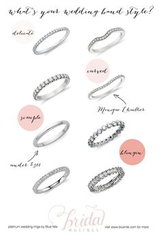 Wedding ring style names