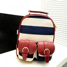 I am so happy to find the Retro Navy Stripe Print Little Backpack&Ipad Bag from ByGoods.com. I like it <3!Do you like it,too?