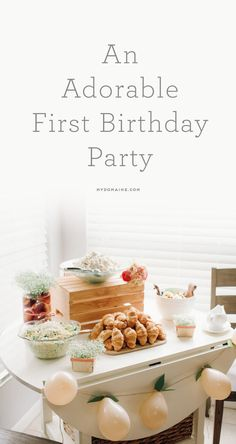 This one-year-old's peach-themed birthday party is the cutest thing ever