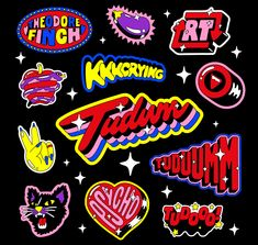 Almanaque Tudum - Netflix on Behance Behance, Typography Design, Lettering, 2 Logo, Vintage Labels, Graphic Design Illustration, Cute Stickers, Sticker Design, Collage Art