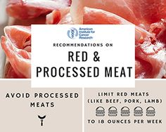 Red and Processed Meat Recommendation
