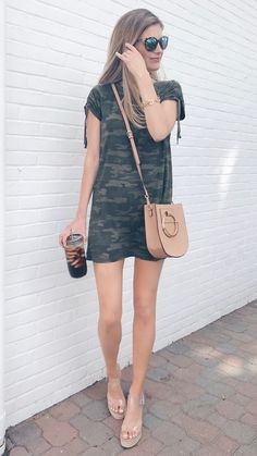 Early summer outfits casual summer outfits summer outfits, c Camo Outfits, Summer Outfits Women, Casual Summer Outfits, Stylish Outfits, Spring Outfits, Beach Outfits, Camo Dress, Dress Shoes, Clothes For Women