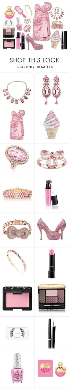 """""""I Belive in Pink"""" by since1992 ❤ liked on Polyvore featuring Tom Binns, Marina Fossati, Judith Leiber, Thomas Sabo, Miadora, Paolo Costagli, Laura Geller, Noir, Jerome C. Rousseau and Dolce&Gabbana"""