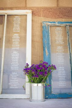 Seating Chart Window Pane Wedding Decoration