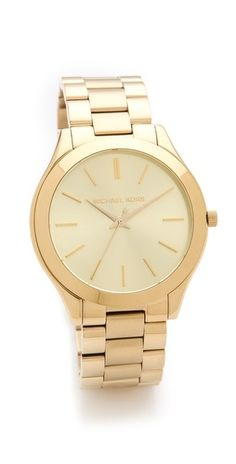 a classic and more affordable MK watch #gold
