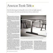 American Trestle Table Digital Download