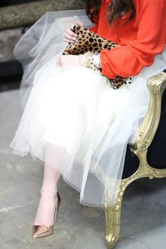 Rose Gold Pumps and Tulle...here any day..follow us..!!