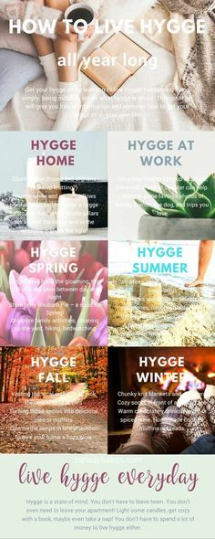 Get your hygge on by learning to live hygge! Happiness, living simply, being mindful, are all what hygge is about. This great list will give you lots of information and ideas on how to get your hygge on in your own life! via @https://www.pinterest.com/Pieandpastrygal/