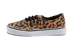 31e0d08377 Vans Shoes Black Brown Authentic Leopard Womens Mens Classic Canvas Sneakers