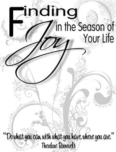 Finding joy in the season of your life activity.