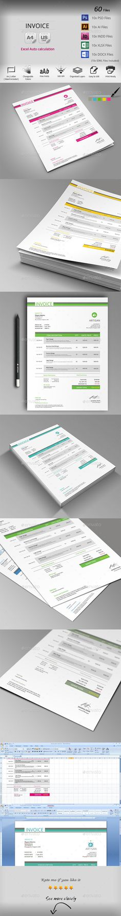 Such a cute invoice template! FREE psd, about to make a form PDF - invoice creation