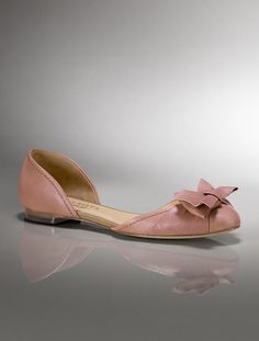 D'Orsay leather flats