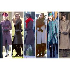 """Kate's Christmas outfits! I wonder what she will wear this year. What is your favourite? #katemiddletoninstagram"