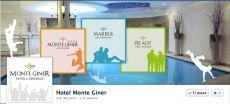 """Hotel Monteginer. Impostazione grafica copertina Fan Page di Facebook in linea con lo stile e la filosofia """"Active"""" dell'Hotel."""