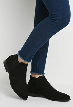 Forever 21 is the authority on fashion & the go-to retailer for the latest trends, styles & the hottest deals. Shop dresses, tops, tees, leggings & more! Suede Chelsea Boots, Suede Ankle Boots, Knee Boots, Sock Shoes, Cute Shoes, Me Too Shoes, Casual Work Wear, Casual Shoes, Kinds Of Shoes