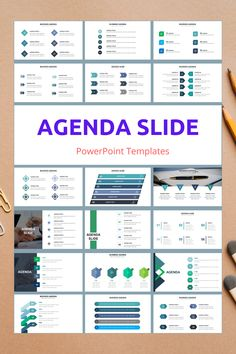 Agenda PowerPoint Slide Templates - creative design business presentation templates in PowerPoint. Ready template, easy to edit. #Agenda #PowerPoint #Design #Creative #Presentation #Slide #Infographic #Template Presentation Slides Design, Business Presentation Templates, Office Powerpoint Templates, Dashboard Examples, Infographics, Graphic Design Tips, Business Design, Deco, Presentation Design