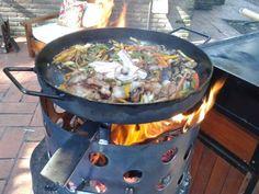 Pollo al disco. Ver receta: http://www.mis-recetas.org/recetas/show/72861-pollo-al-disco