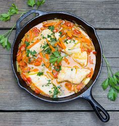 Fish in Crazy Water is the perfect weeknight one-pan dinner - 30 minutes, healthy and delicious.