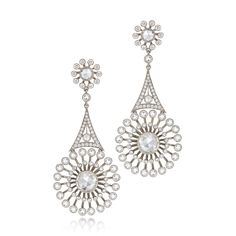 Diamond bouquet earrings from the Kwiat Vintage Collection im 18K white gold - See more at: http://www.kwiat.com/fine-diamond-jewelry/kwiat/p/155579/1/0/337#sthash.PFYf8su5.dpuf