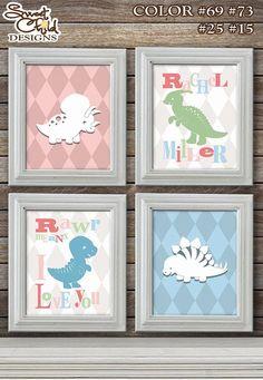 Customizable Dinosaur Art Baby Nursery Art by SweetChildDesignsFL, $50.00